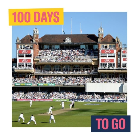 We're starting the Cricket World Cup countdown. It's 100 days until the opener at the Oval! #cricketworldcup @KiaOvalEvents #lovedifferent #lovevauxhall #100daystogo