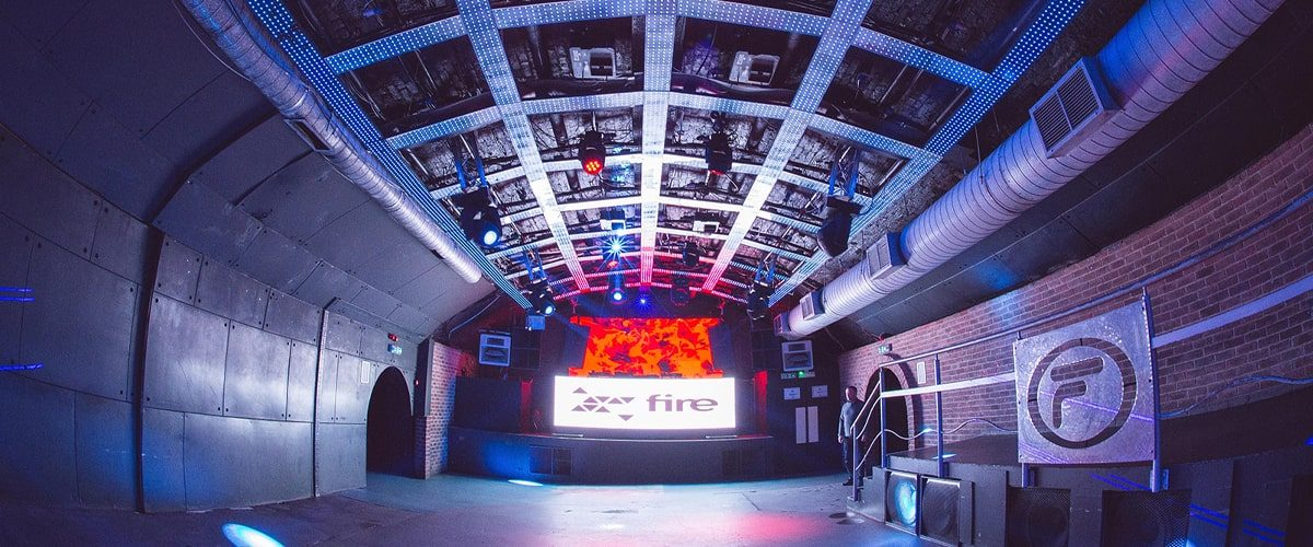 Fire London nightclub main stage