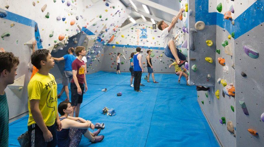 Vauxwall climbing centre indoor climbers