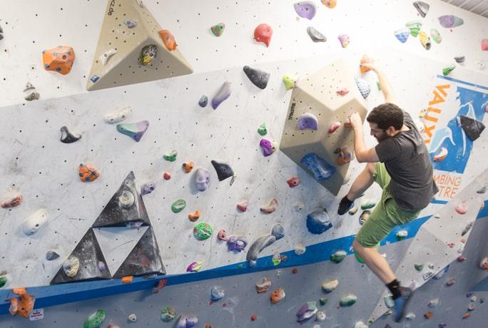 Vauxhwall climbing centre indoor climbing wall landscape