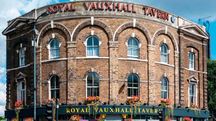 Royal Vauxhall Tavern (RVT) signs and facade