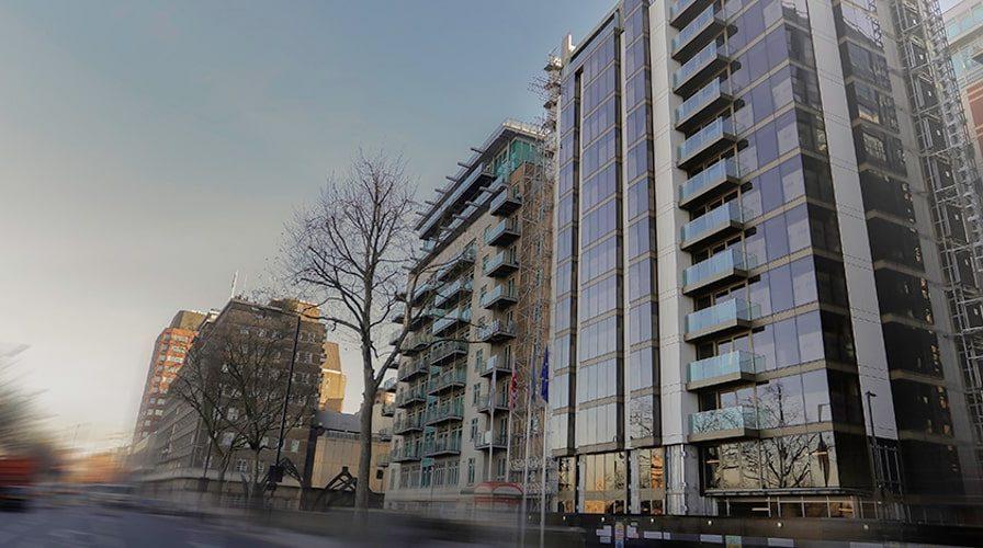 Crowne Plaza hotel Vauxhall exterior wideshot