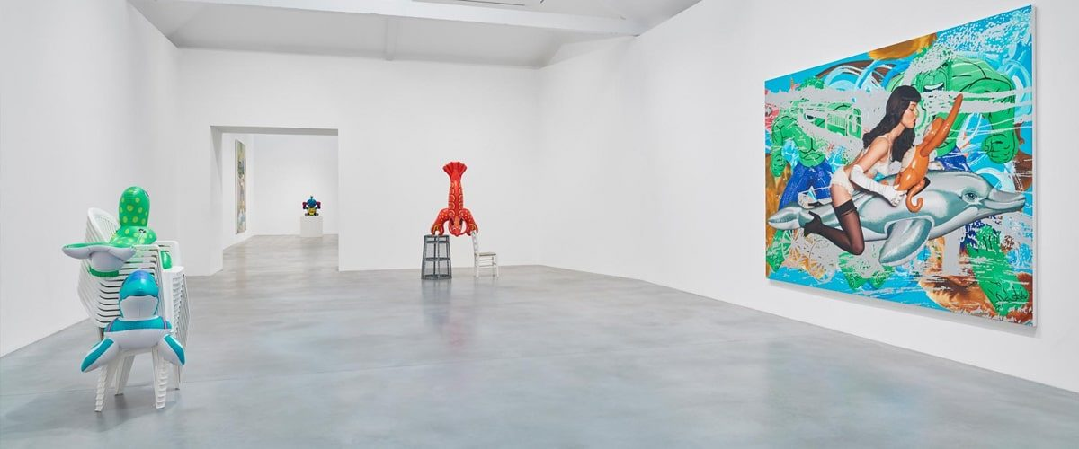 Interior of Damien Hirst's Newport Street Gallery during an exhibition