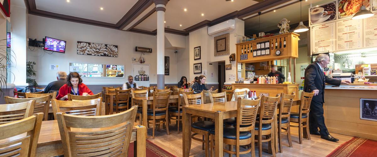 Queens Head Cafe interior