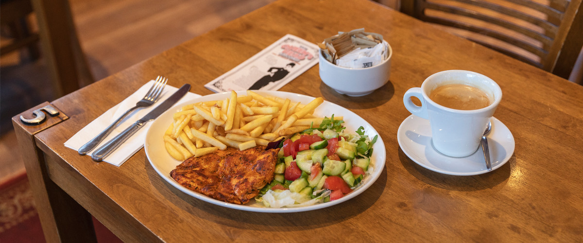 Food at Queens Head Cafe