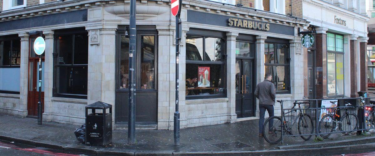 Starbucks Vauxhall Station entrance