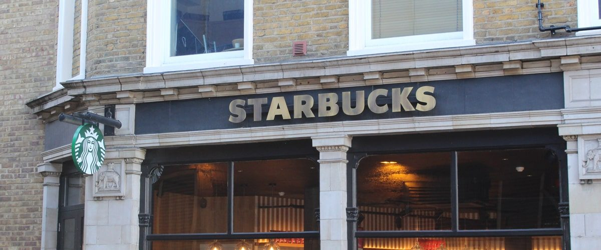 Starbucks Vauxhall Station signage