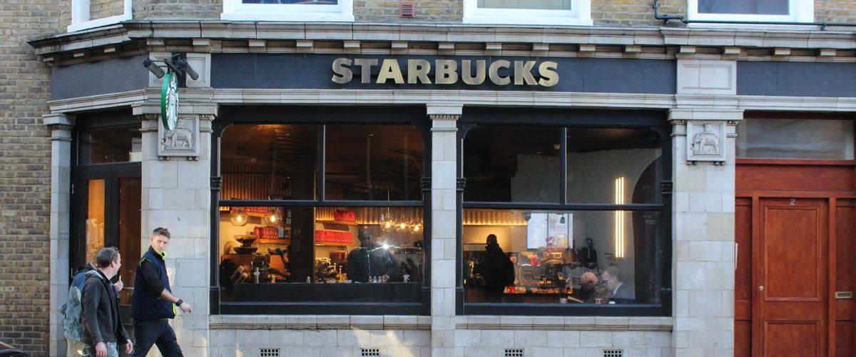 Starbucks Vauxhall Station wideshot