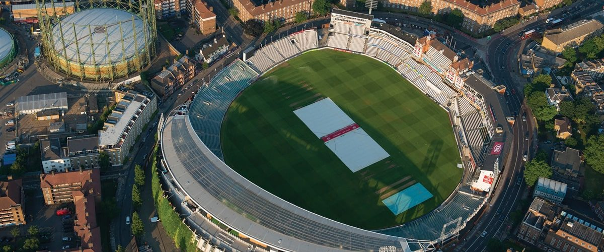 Birds-eye view of the Kia Oval
