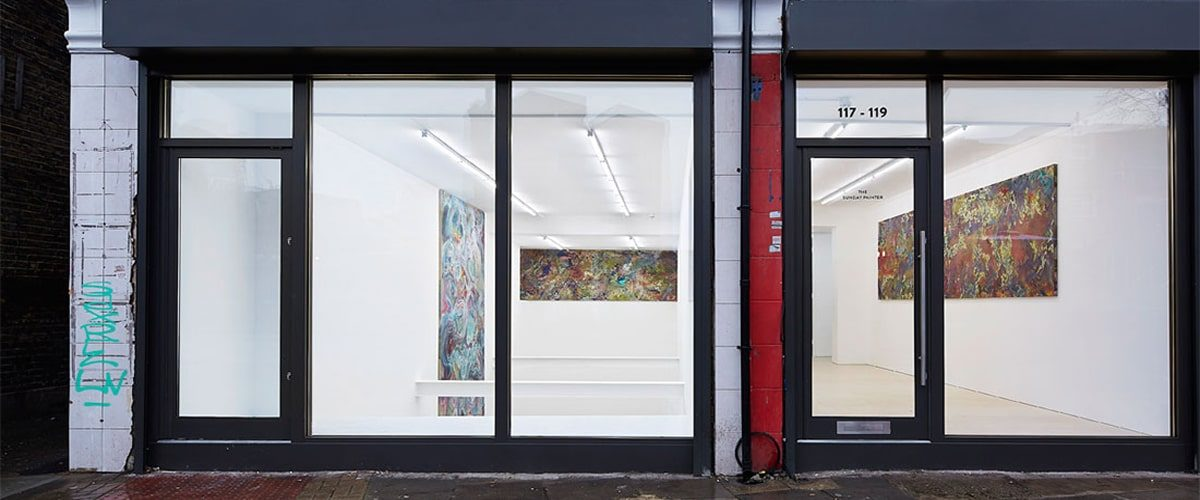 The Sunday Painter gallery window and entrance wideshot