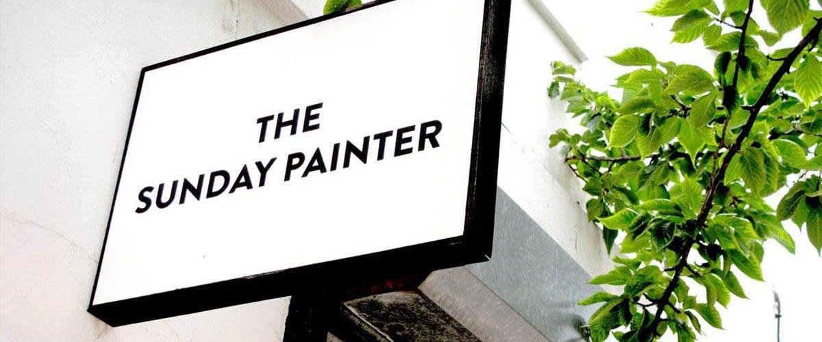 The Sunday Painter gallery signage