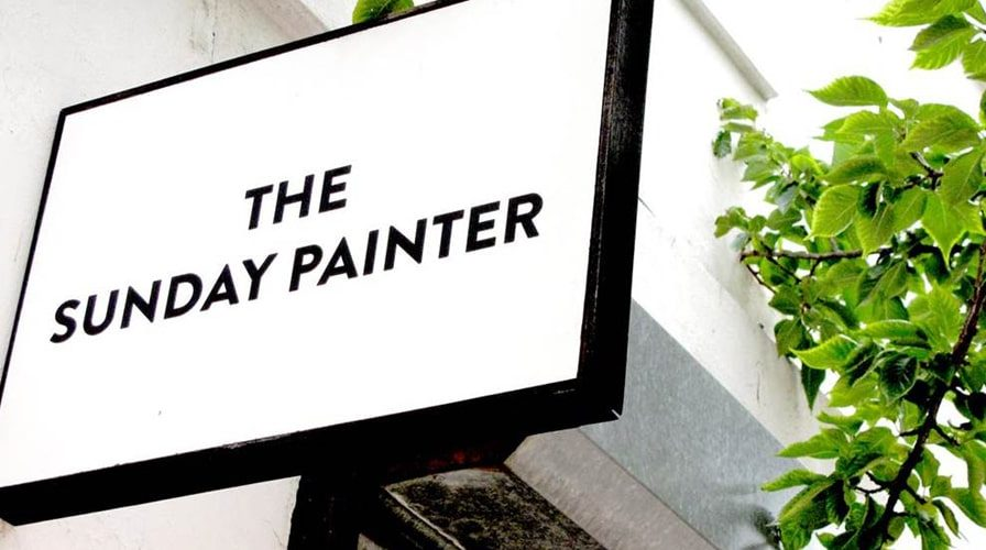 The Sunday Painter gallery signage