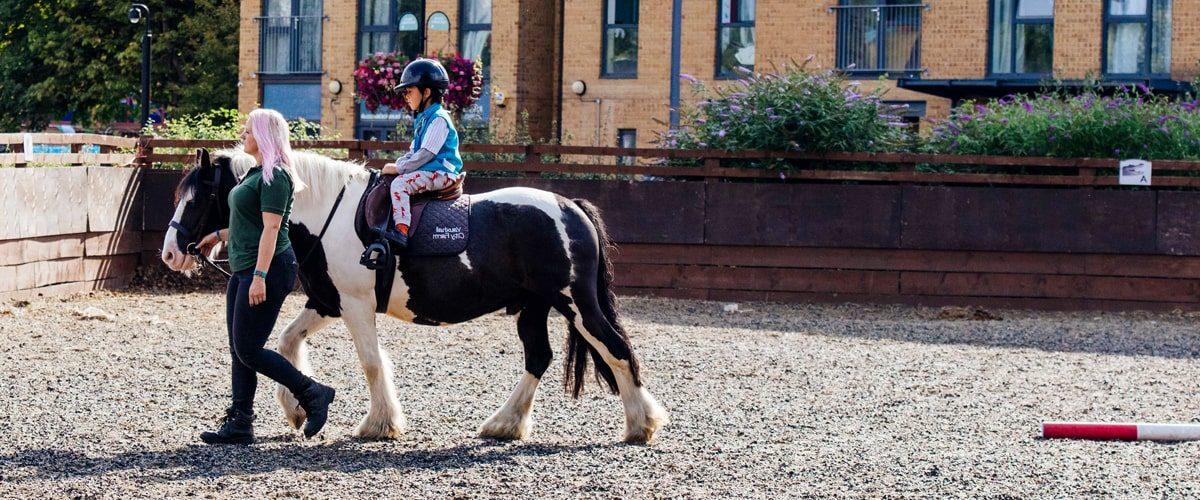 Vauxhall City Farm horse riding session