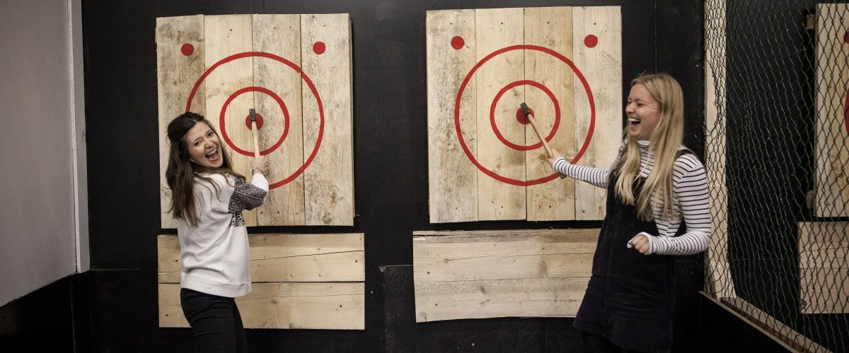 Whistle Punk axe throwing Vauxhall bullseye