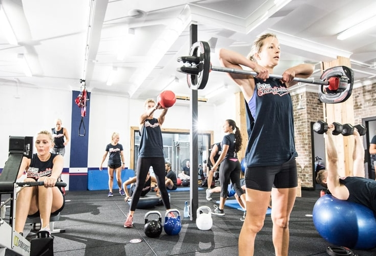 Interior of the F45 Gym in Vauxhall