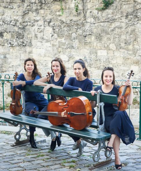 Quatuor Zaide Classical Vauxhall photoshoot