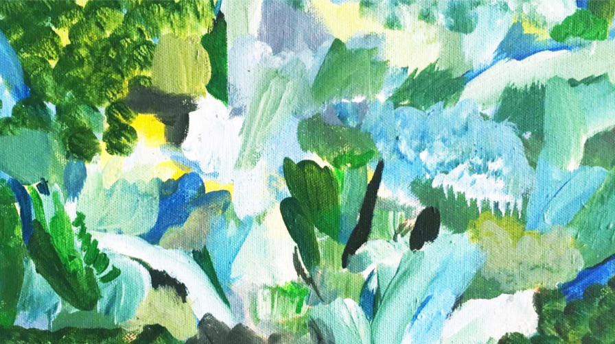 Watercolour of plants Garden Museum