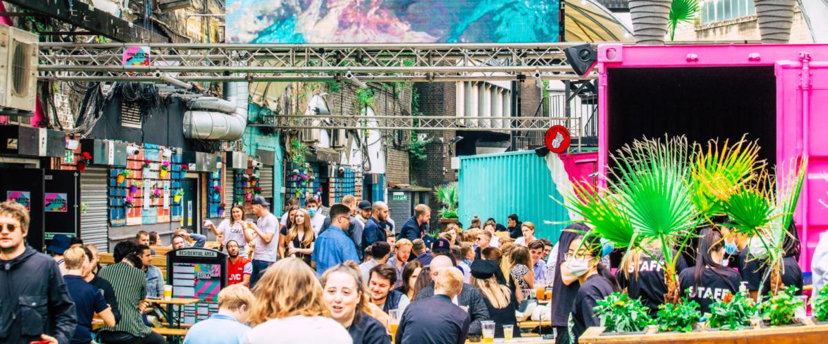 Vauxhall food beer garden
